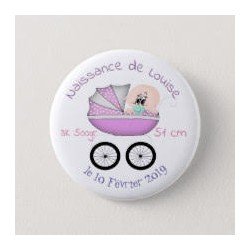 Girl birth badge with stroller