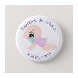 Badge de baptême fille