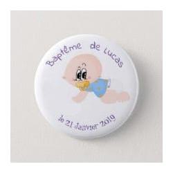 Badge de baptême garçon
