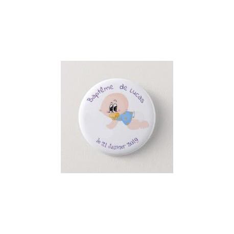 Boy baptism badge