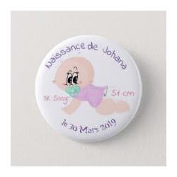 Badge de naissance fille