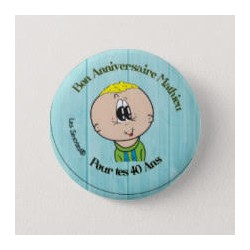 Boy birthday badge