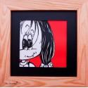 Frame decoration jade room little girl face 3