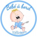 Sticker bébé garçon autocollant bébé à bord